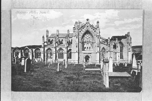 Melrose Abbey from S.
