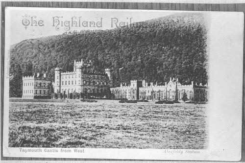 Taymouth Castle from West.