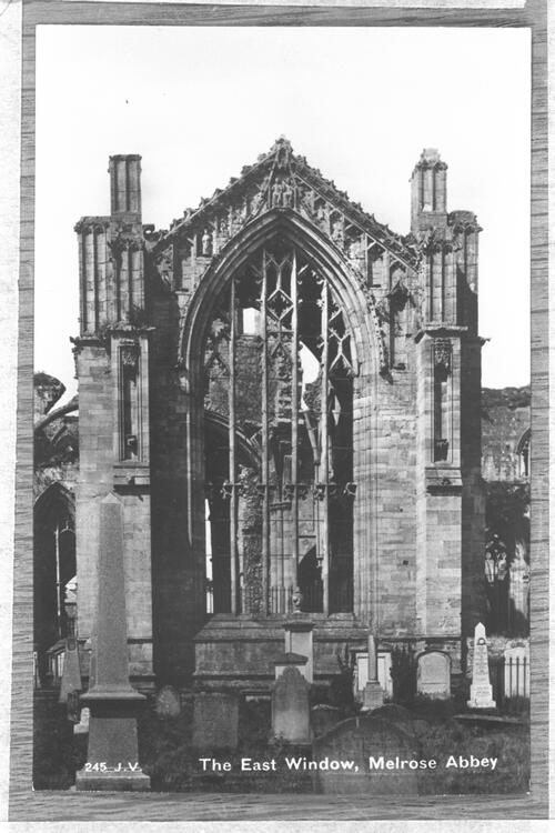 East window, Melrose Abbey.