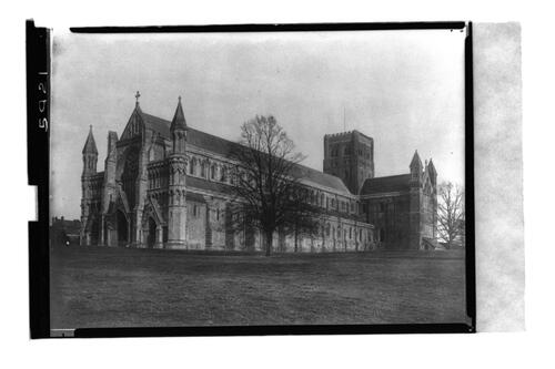 St Albans Abbey, west front.
