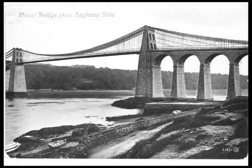 Menai Bridge from Anglesey side.