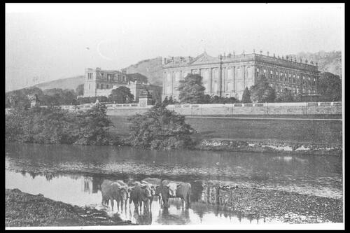 Chatsworth House from River.