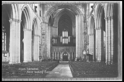 Ripon Cathedral, Nave looking E.