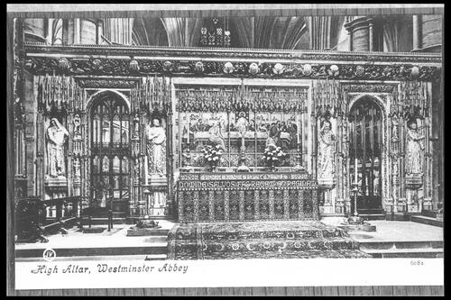 High Altar, Westminster Abbey.