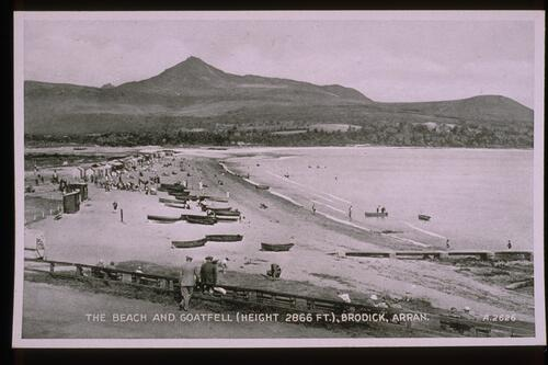Beach and Goatfell, Brodick.