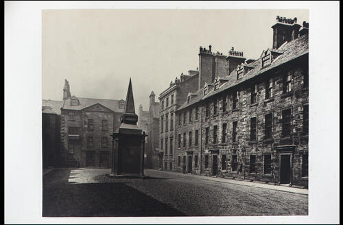 The Professors' Court, looking West, [University of Glasgow] Glasgow.