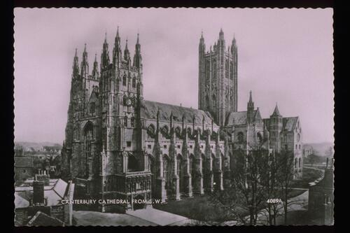 Canterbury Cathedral from SW.