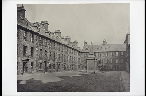 The Professors' Court, looking East, [University of Glasgow] Glasgow.