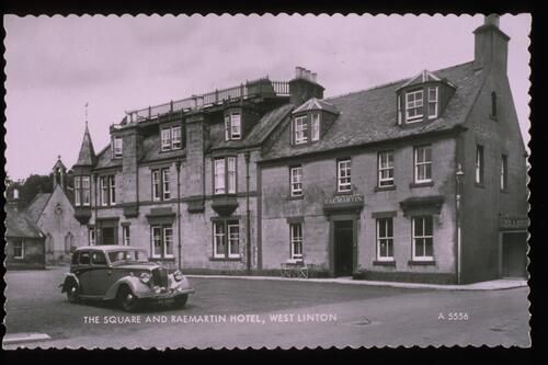 The Square & Hotel, West Linton.