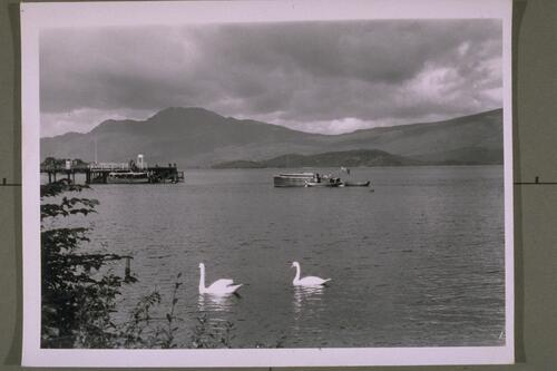 Luss Pier and Ben Lomond.