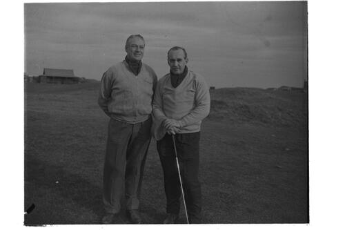 Dr Hilgard Muller and Charles McQueen, The Old Course, St Andrews.