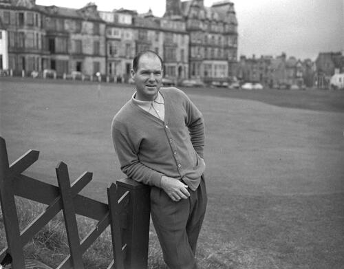Kel Nagle at the Old Course, St Andrews.