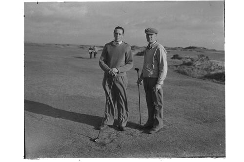 Francis Ouimet and golf partner, the Old Course. St Andrews