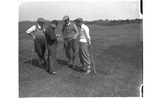 Golfers on the Old Course, St Andrews.