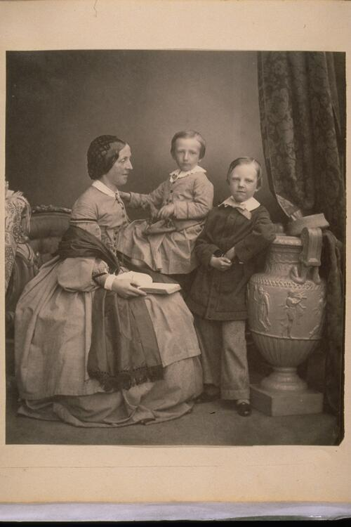 Unknown woman and children.