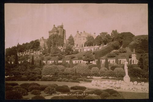 Drummond Castle from South East.