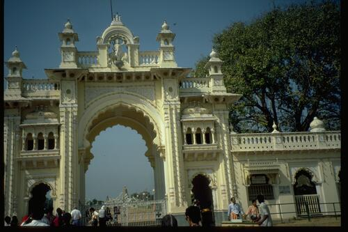Mysore Town Palace gate.