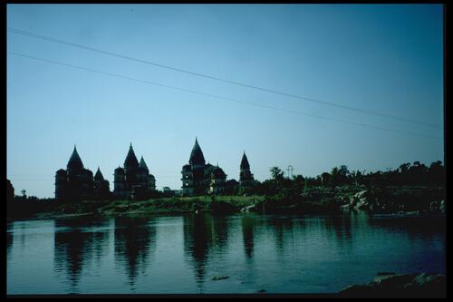 Tombs on the Betwa River, Orchha.