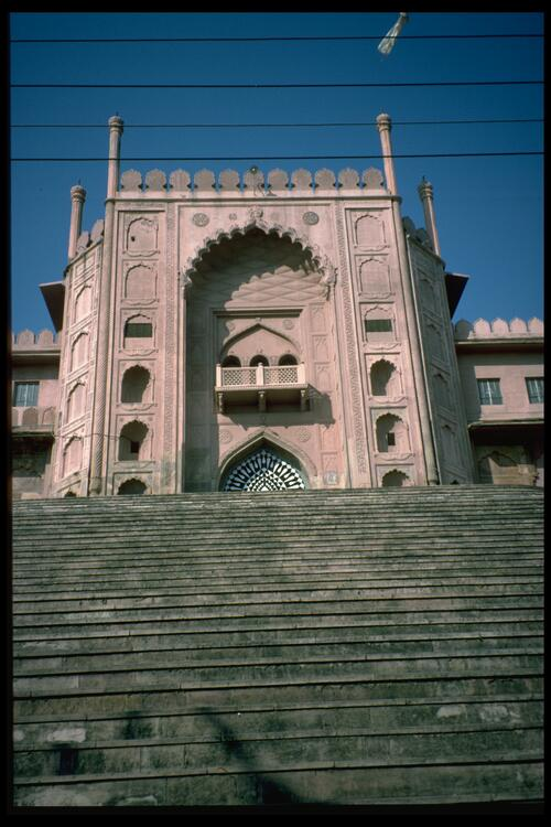 [The eastern entrance] Taj-Ul Masjid Mosque, Bhopal.