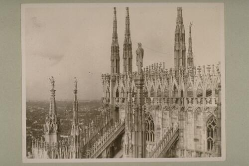 The roof of Milan Cathedral.