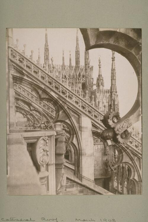 Detail of Milan Cathedral roof.