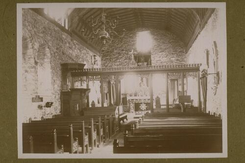 Llanfechain Church Interior.