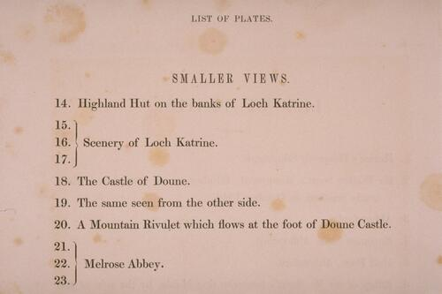 List of Plates, smaller views.