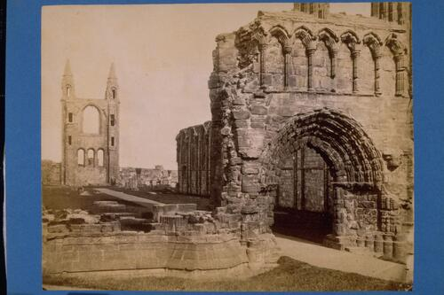 The West front of the Cathedral, St Andrews.