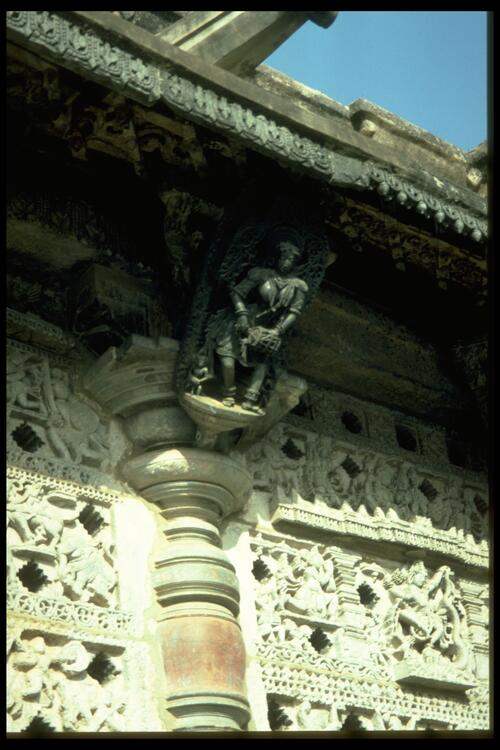 [Carving of a] dancer, Chennakeshava Temple, Belur.