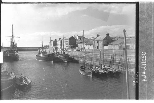 Burghead harbour.