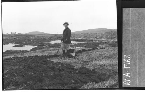 Girl working land, Ard Buidhe.