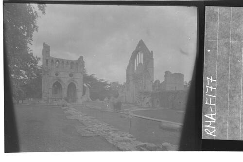 General view of Dryburgh Abbey.