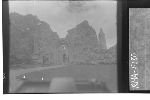 Entrance to Dryburgh Abbey.