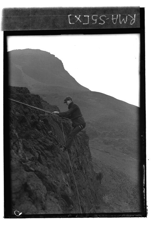 Near view, C.W.descending cliff.