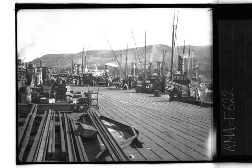 Scene on the Pier, Mallaig.
