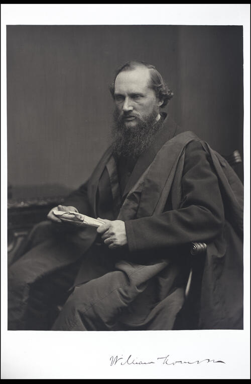 Sir WIlliam Thomson, LLD DCL, Professor of Natural Philosophy, [University of Glasgow] Glasgow.