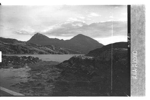 Quinag from Kylesku jetty.