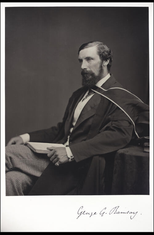 George G Ramsay, MA, Professor of Humanity, [University of Glasgow] Glasgow.