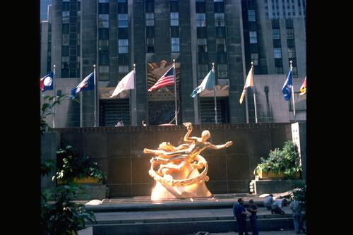 The Rockefeller Centre Fountain, New York.