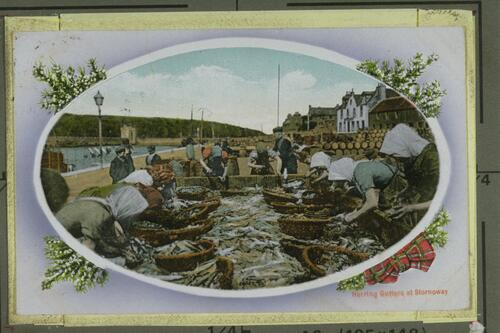 Herring Gutters at Stornoway.