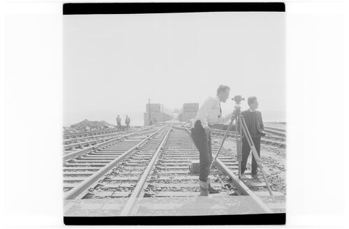 Laying Railway Line, Tay Bridge.