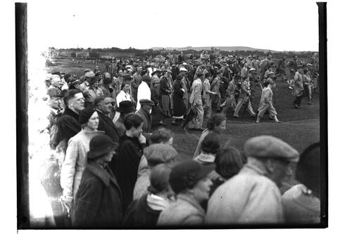 Crowd scene, British Amateur Golf Championships, 1936, St Andrews.