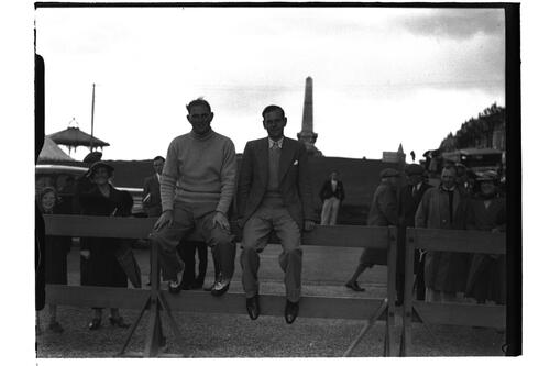 Jim Ferrier (Australia) and Hector Thomson, British Amateur Golf Championships, 1936, St Andrews.