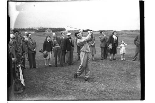 Dai Rees (South Herts) at the Open Championship 1950.