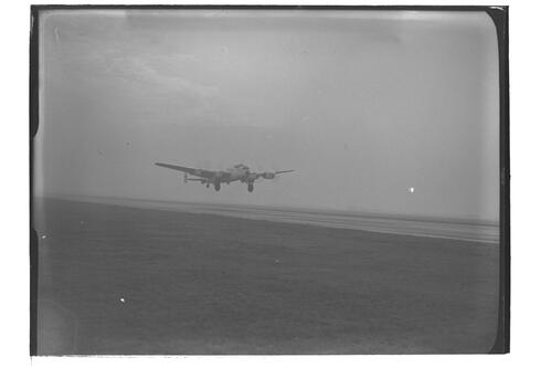 Airplane taking off, 120 Squadron preparing to leave for Pakistan, RAF Leuchars.