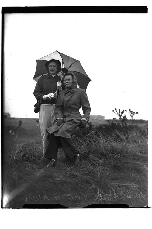 Mrs J Langley and Mrs A McNair at the British Amateur Championship, St Andrews.