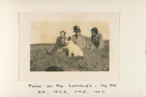 Picnic on the Lomonds - B.E.D., MC.A., J.M.D, Mr P.