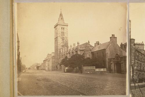 St Salvators College Church, North Street, from the Southeast, St Andrews.