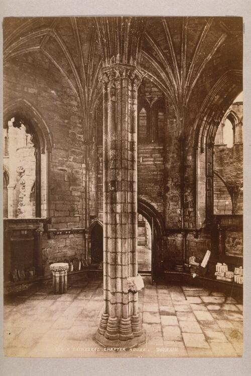 Chapter House, Elgin Cathedral.