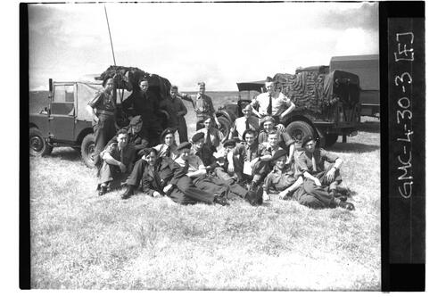Royal Artillery (Army) and RAF members, RAF Ouston.